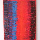 Abstract Original Acrylic Painting by Iantis Contemporary Impasto Texture Modern Red Blue