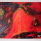 Surrealism Original Acrylic Painting by Iantis Red Black Reborn Contemporary Fine Art Spiritual