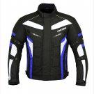 ProFirst Motorbike Waterproof Cordura Jacket Armours Textile Jacket Blue