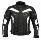 Grey Waterproof Motorbike Motorcycle Jacket Cordura Textile