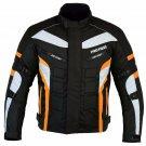 Armourd Motorbike Racing Cordura Textile Jacket Waterproof Bike Rider Jacket - Orange