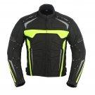 Men Motorbike Bike Racing Jacket Green WaterProof Cordura Fabric Jackets Coat Armors