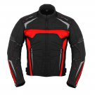 RED Motorbike Cordura Jacket UK Bikers Riding Jacket Winter Biker Racing Coat Waterproof
