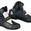 Motorbike Racing Boots Armours Motorcycle Touring Leather Shoes Waterproof