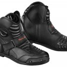 Motorbike Waterproof Leather Boots Bikers Short Ankle  Racing Shoes