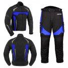 New Bike Racing Motorbike Blue Suit Waterproof Jacket Trouser/Pant Armoured