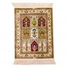 1.5'x2' Oriental Rug Handmade Persian Silk Area Rug Mat