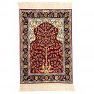 1.5'x2' Oriental Persian Silk Rug Tree of Life Design Carpet Tapestry