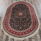 5'x8' Oval Hand Knotted Oriental Persian Silk Carpet