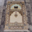 2.5'x4' Hand Knotted Persian Rug Silk Oriental Prayer Rug