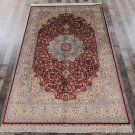 5'x8' Red Persian Rugs Hand Knotted Silk Oriental Carpet for Living Room