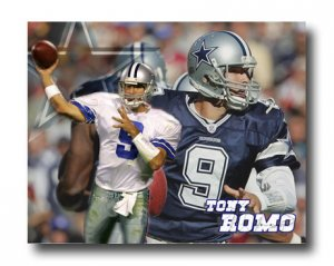 Tony Romo Photo , #9 Dallas Cowboys Custom NFL Canvas Print (NFL015)