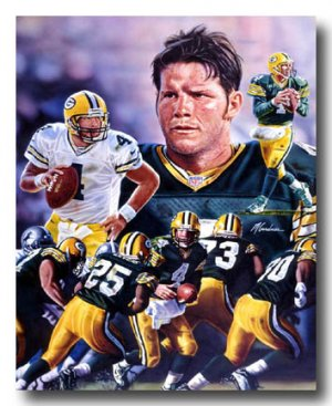 Brett Favre Photo , #4 Green Bay Packers Custom NFL Canvas Print (NFL003)