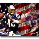 Tom Brady Photo , #12 New England Patriots Canvas Print (NFL023)