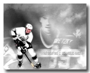 Wayne Gretzky Photo, #99 LA Kings Custom Canvas Print (NHL006)