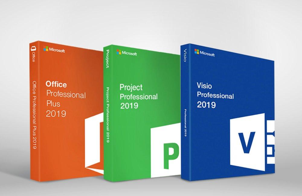 Microsoft Office 2019 Pro Plus + Microsoft Project 2019 Pro + Visio Pro 2019 Key