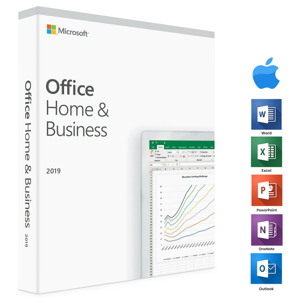 Microsoft Office 2019 Home and Business For MAC - 3 MAC's License
