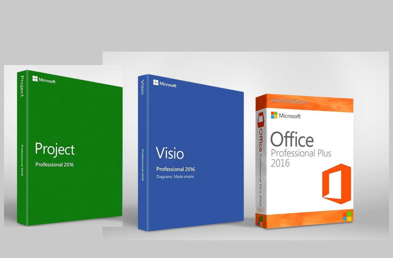 Microsoft Office 2016 Pro Plus + Microsoft Project 2016 Pro + Visio Pro 2016 Key