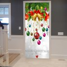 Christmas Bells and Ornaments , Christmas Printed Door Decal