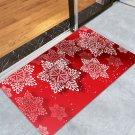 "24"" x 35.5"" Red Snowflake Printed Christmas / Winter Decorative Door Mat"