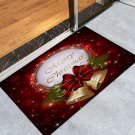 "16"" x 24"" Merry Christmas  with Christmas Bells Printed Decorative Door Mat"