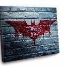 Batman Sign  Framed Canvas Wall Art 12x8