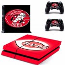 Cincinnati Reds PS4 Skin Sticker Decal for Sony PlayStation 4 Console and 2 controller skins