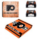 Philadelphia Flyers PS4 Slim Skin Sticker Decal for Sony PlayStation 4 Console and 2 Controller