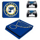 St. Louis Blues PS4 Slim Skin Sticker Decal for Sony PlayStation 4 Console and 2 Controller