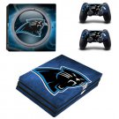 Carolina Panthers PS4 Pro Skin Sticker Decal for Sony PlayStation 4 Console and 2 Controller