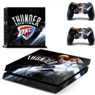 Oklahoma City Thunder PS4 Skin Sticker Decal for Sony PlayStation 4