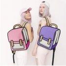 Women Backpack 3D Jump Style 2D Drawing Cartoon Back Bag Comic