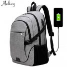 Aelicy Luxury 4 Colors Canvas Business Laptop Backpack With USB