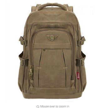 Man's Canvas Backpack Travel