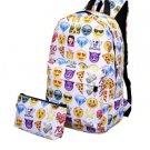 2Pcs/set Smile Women Backpack Nylon Large Capacity Travel Backpack
