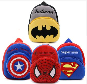 Hot Plush Backpack Cartoon The Avengers Plush Toy Backpack Superman