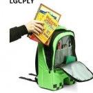 Hot-selling Cartoon block backpack High Quality unisex 16 OZ canvas zip