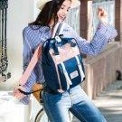 Findpop Patchwork Backpack Women Large Capacity Waterproof