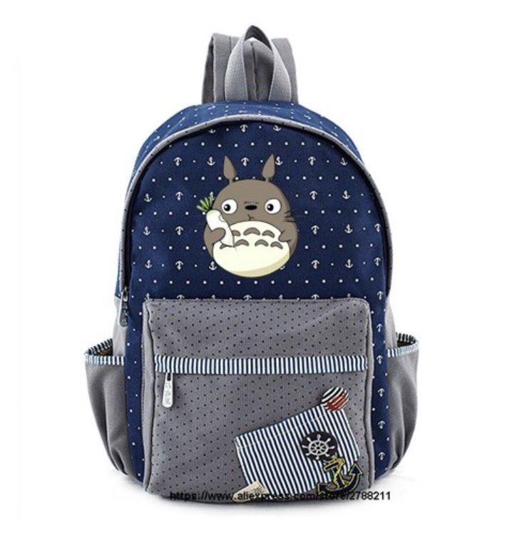 Totoro school bags for Women Girls Anime Backpack School Bags Canvas Neighbour Totoro