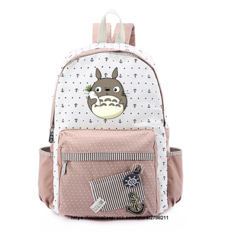 Totoro school bags for Women Girls Anime Backpack School Bags Canvas Neighbour Totoro