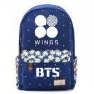 Bangtan Boys BTS Rap Monste Canvas bag Flower wave point Rucksacks backpack