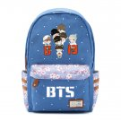 Bangtan Boys BTS Rap Monste Canvas bag Flower wave point Rucksacks backpack