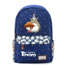 My Neighbor Totoro Cartoon Logo cute canvas Double Shoulder Bag Cosplay Printing Backpack