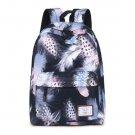 Women Backpacks For Teenage Girls Feather Printed School Bag Travel Leisure Laptop Backpack