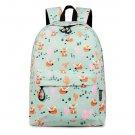 Waterproof Women Backpack Cute Fox Printing Backpack Female School Bags