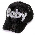 Mesh Cap For Children Gift Baseball Caps Baby Diamond Sequin Sun Hats Adjustable Summer Kids