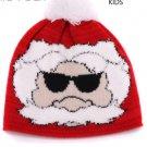 Parent-child Christmas hat winter crochet knitted hats outdoor warm beanie red bonnet cap