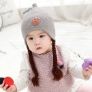 2019 Korean version of autumn and winter female baby wig hat infant child strawberry