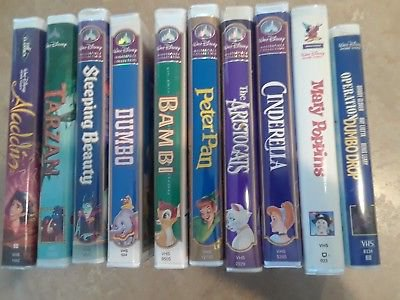 Disney VHS Tapes Lot of 10