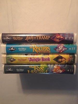 4  Disney Black Diamond VHS Movies